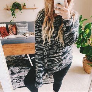 Vtg marled oversized chunky boho sweater p1